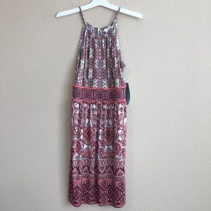 London Times Coral Halter Dress NWT